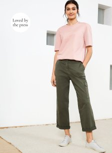 Shop Relaxed Cargo Trousers Dark Khaki and more