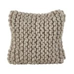 Chunky Cable Knit Design Accent Cushion Wool Throw Pillow (Fog - Cover Only)