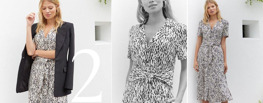 Shop Phoebe Blazer Caviar Black, Lexie Shirt Dress Stone Dash Print and more