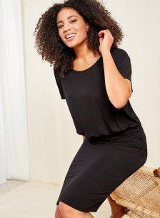 Shop Gemma Dress Caviar Black and more
