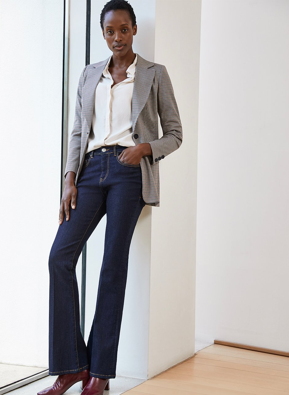 Shop Elena Shirt Cream, Frankie Jean Darkest Indigo, Delilah Blazer Brown Tonal Check and more