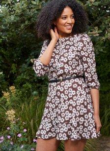 Shop Primrose Dress Burgundy Primrose Print and more