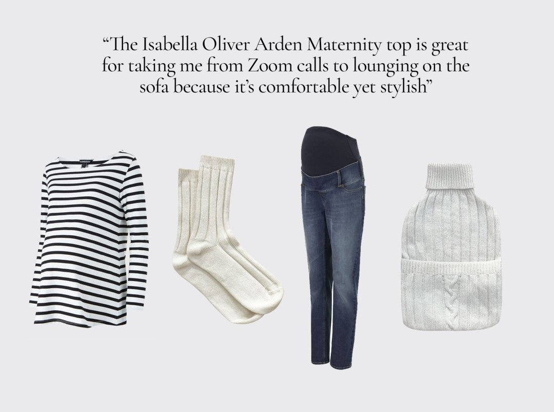 Shop Isabella Oliver Arden Maternity Top, Isabella Oliver Over the bump Maternity Boyfriend Jean-Washed Indigo, Eco Cashmere Socks, Eco Cashmere Hot Water Bottle Cover and more