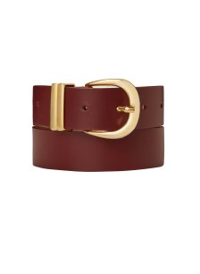 Shop Baukjen Signature Belt Gold Buckle Oxblood and more