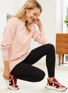Shop Marte Organic Longline Sweatshirt Rose and more