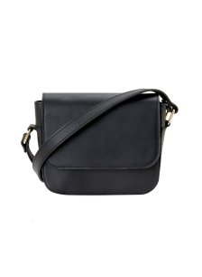 Shop Betty Leather Cross-body Bag Caviar Black and more