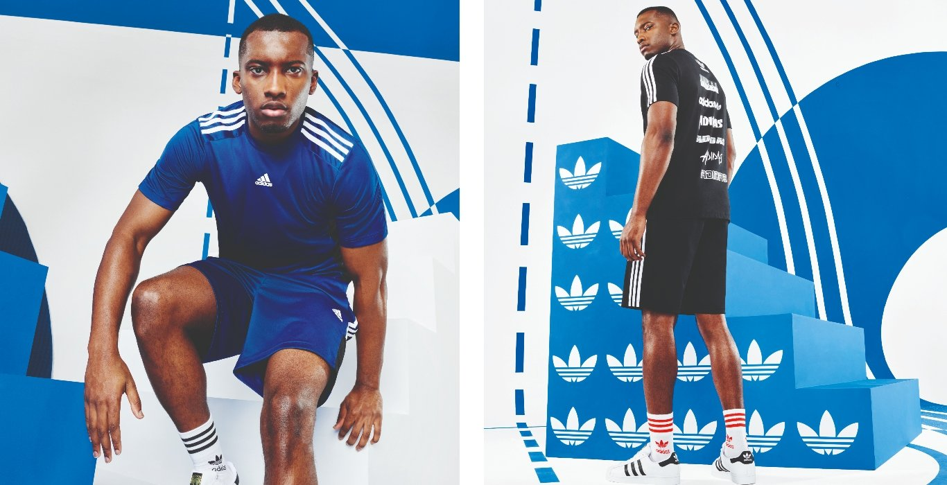Curated image with adidas Squadra 21 Shorts - Navy, adidas Originals Back Hit Sticker T-Shirt - B...