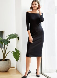 Shop Savannah Dress Caviar Black and more