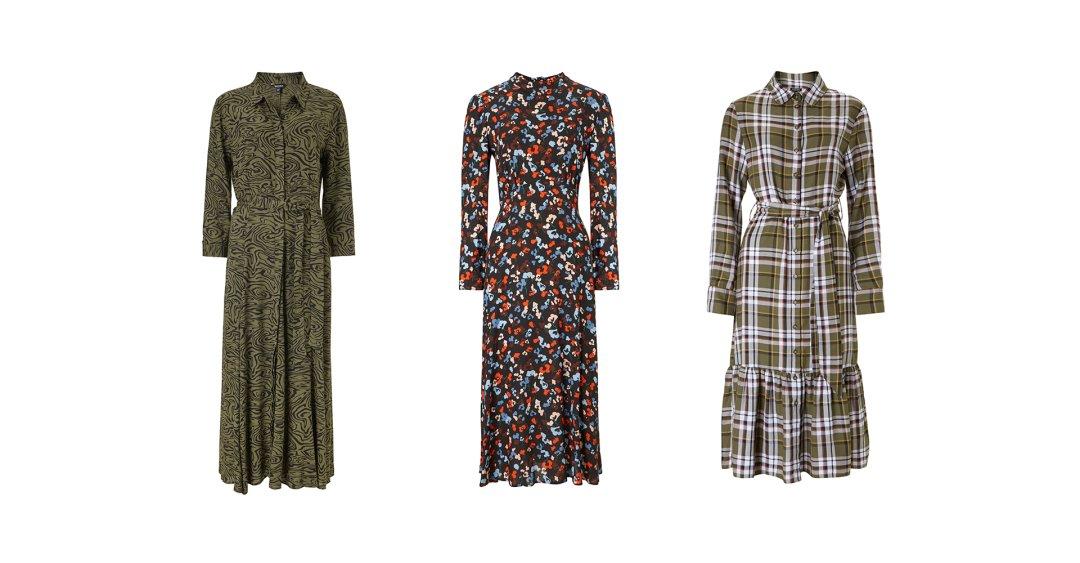 Shop Titania Dress Khaki Grain Print, Wynne Dress Black Floral Print, Cynthia Dress Khaki Check and more