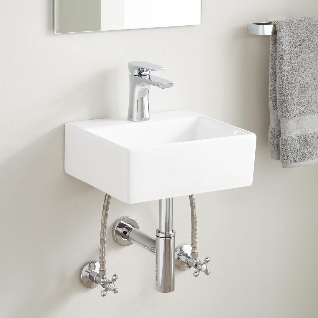 Corrie Mini Porcelain Wall Mount Bathroom Sink Bathroom