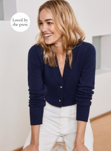 Shop Perdy Cardigan Classic Navy and more