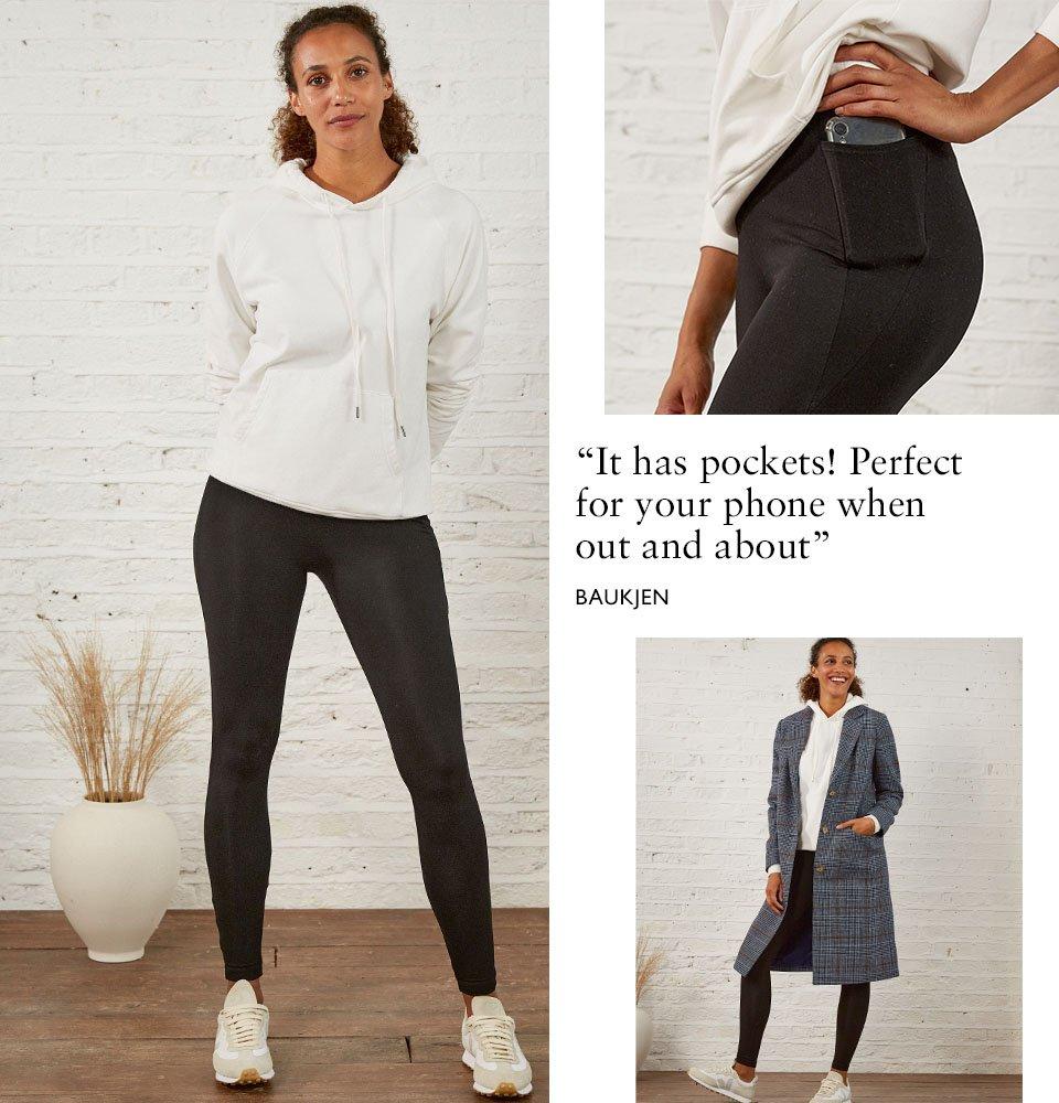 Shop Brandi Ecovero™ Pocket Leggings, Marte Organic Hoodie Soft White, Agnes Coat Blue Check and more