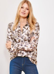Shop Keira Blouse Pink Saraca Floral and more