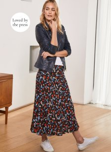 Shop Wynne Skirt Black Floral Print and more