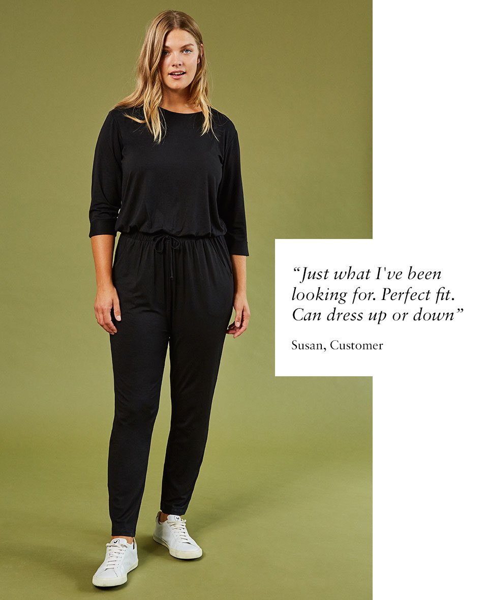 Shop Marnie Ecovero™ Jumpsuit Caviar Black and more