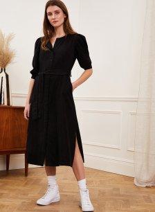 Shop Natalia Tencel™ Dress Caviar Black and more