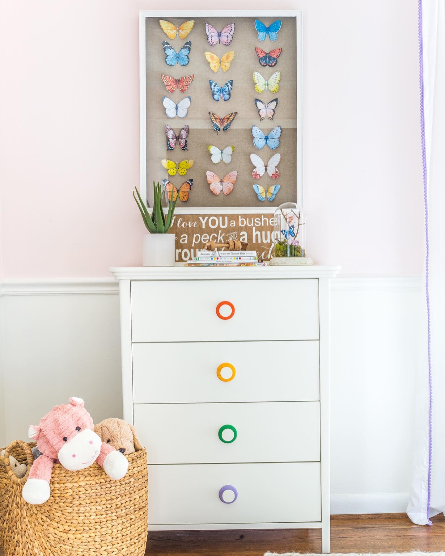 Delicate colorful kids' room Instagram Post