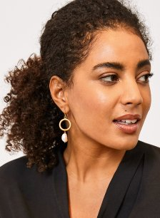 Shop Eloise Earrings Gold and more