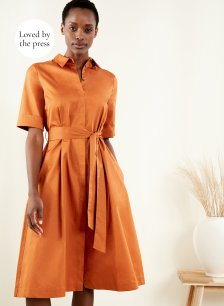 Shop Issey Dress Rust and more