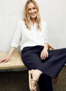 Shop Lucy Hemp Trouser Navy and more