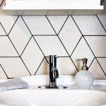 SomerTile 5.5x9.5-inch Rombo White Porcelain Floor and Wall Tile (60 tiles/11.68 sqft.) (SAMPLE-Rombo)