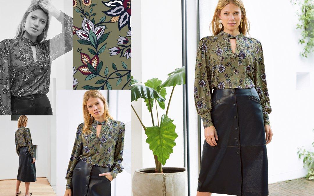 Shop Kara Leather Button Skirt Caviar Black and more