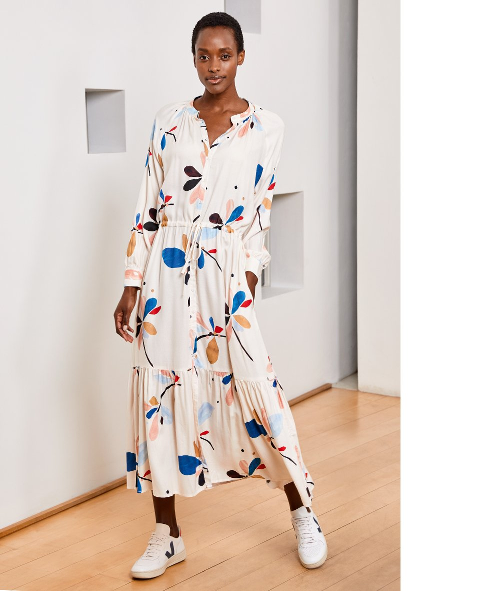 Shop Indi Dress Stone Abstract Floral and more