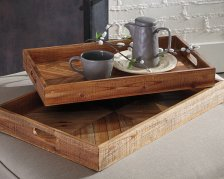 Shop Dewitt Tray (Set of 2), Brown and more