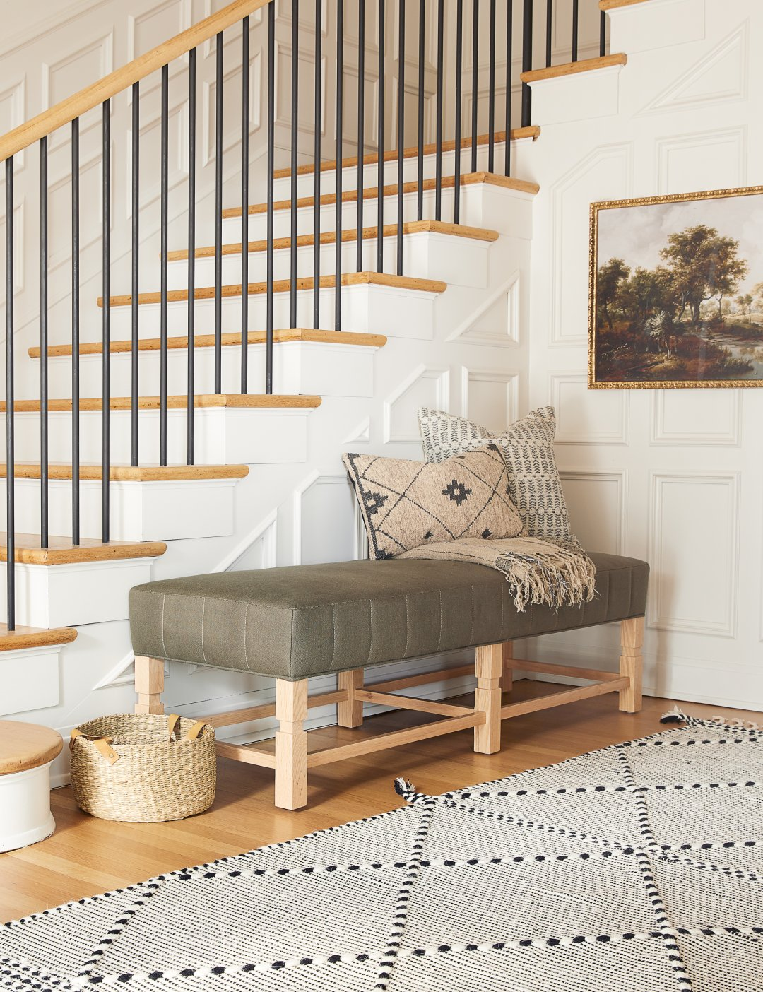 Curalate Reveal: Interactive image with Ambleside Linen Bench, Loden By Gi...