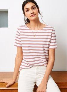Shop Emma Organic Classic Top White & Terracotta Stripe and more