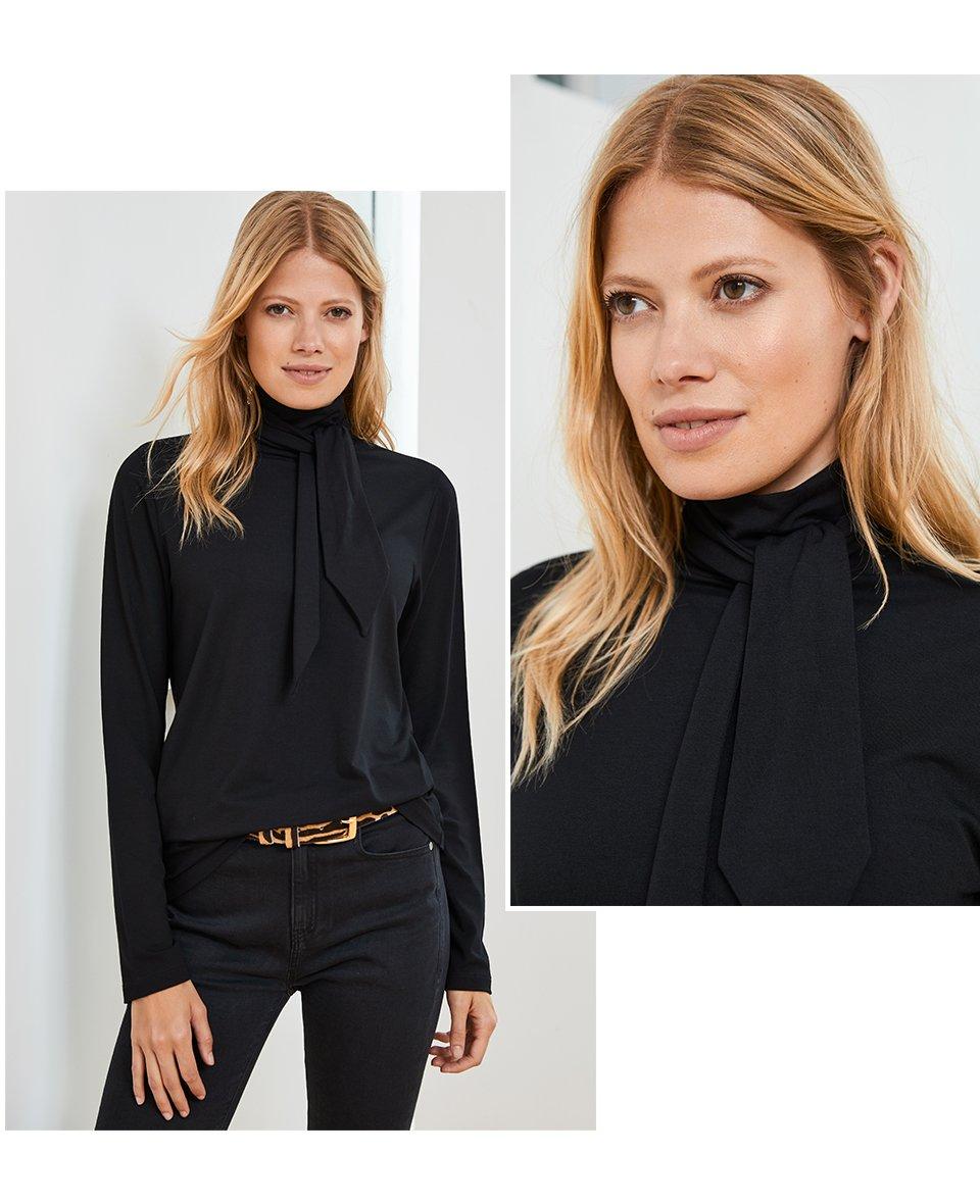 Shop Eden Ecovero™ Top Caviar Black, Baukjen Animal Belt Zebra Print Leather, Wren Skinny Jean and more