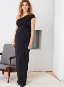 Shop Isabella Oliver Belmont Maternity Maxi-Caviar Black and more