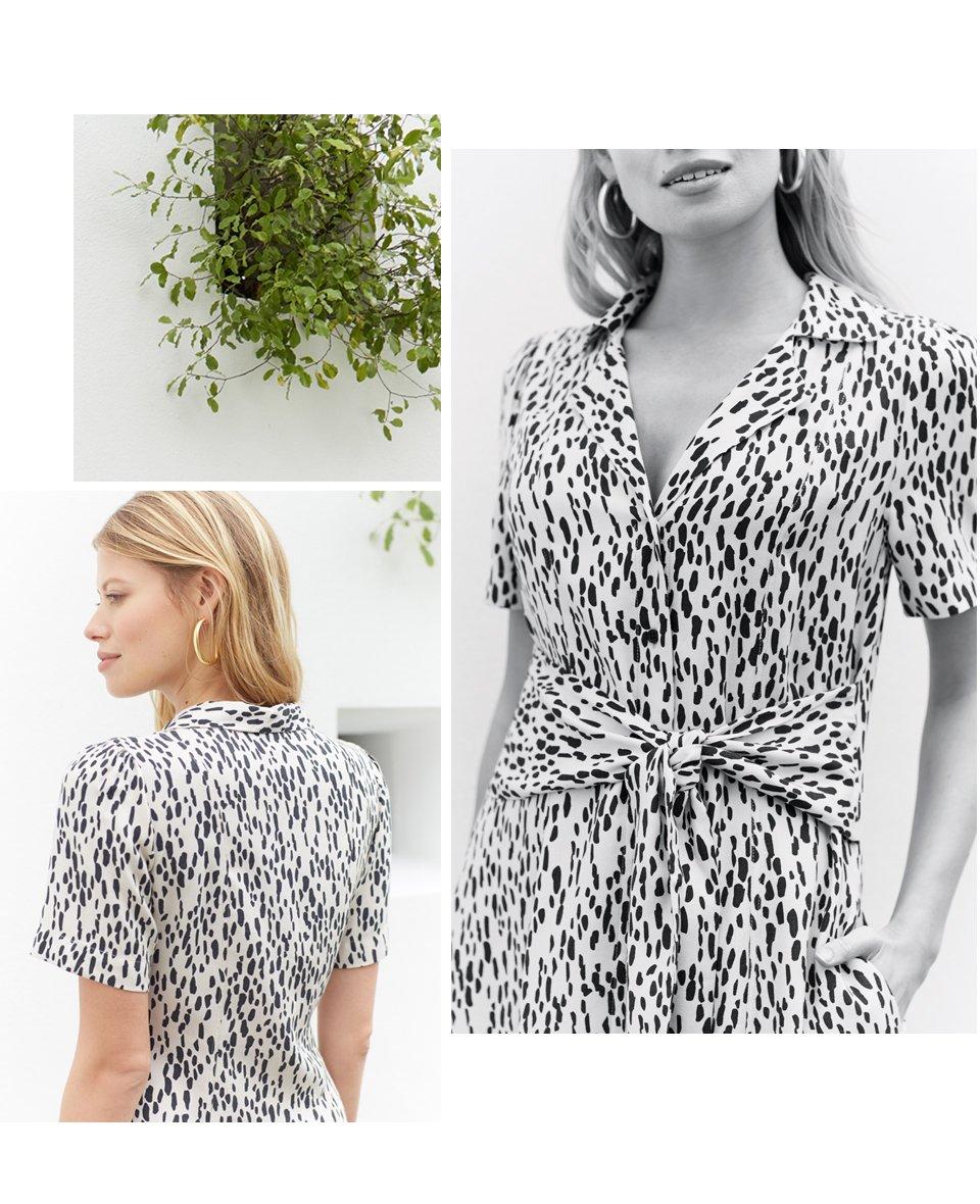Shop Lexie Shirt Dress Stone Dash Print and more