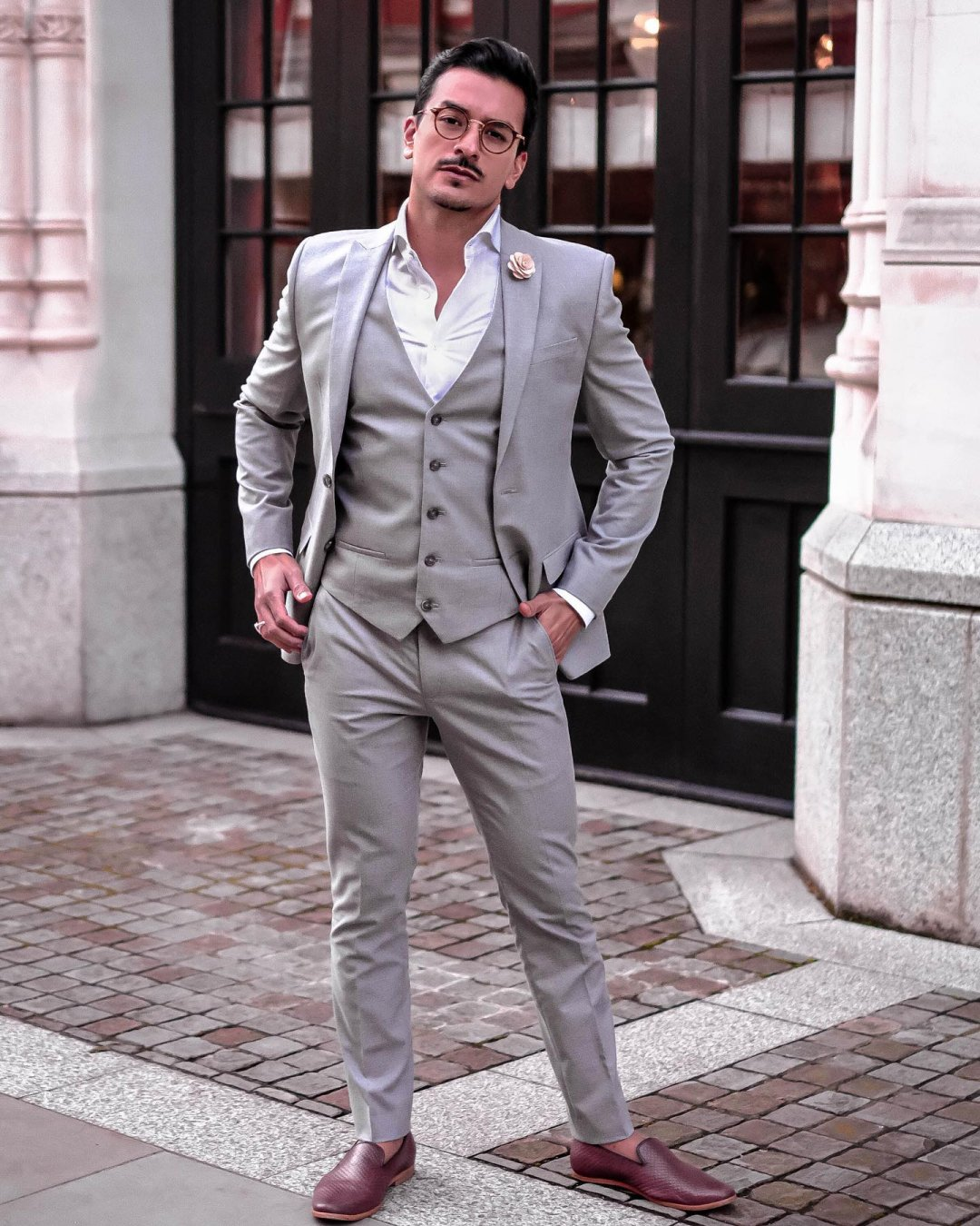 Shop Mens River Island Grey textured slim fit suit jacket, Mens River Island Grey textured suit waistcoat, Mens River Island Grey textured skinny suit trousers and more