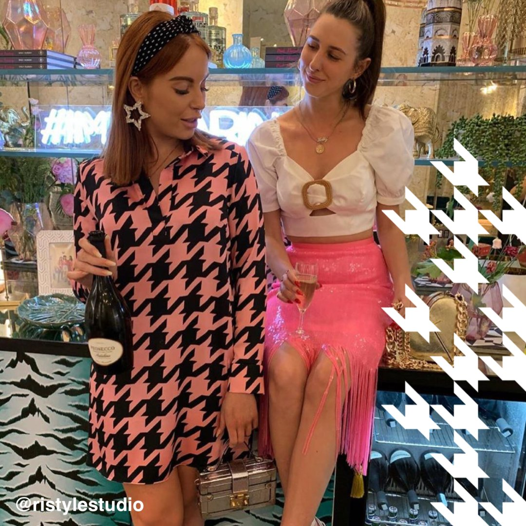 Shop River Island Womens Pink sequin tassel pencil skirt, River Island Womens Pink dogtooth check swing dress and more