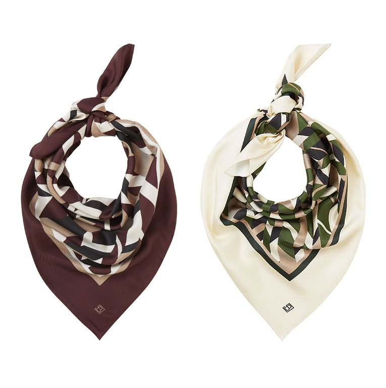 Shop Skye Silk Scarf Redwood Herringbone, Rey Silk Scarf and more