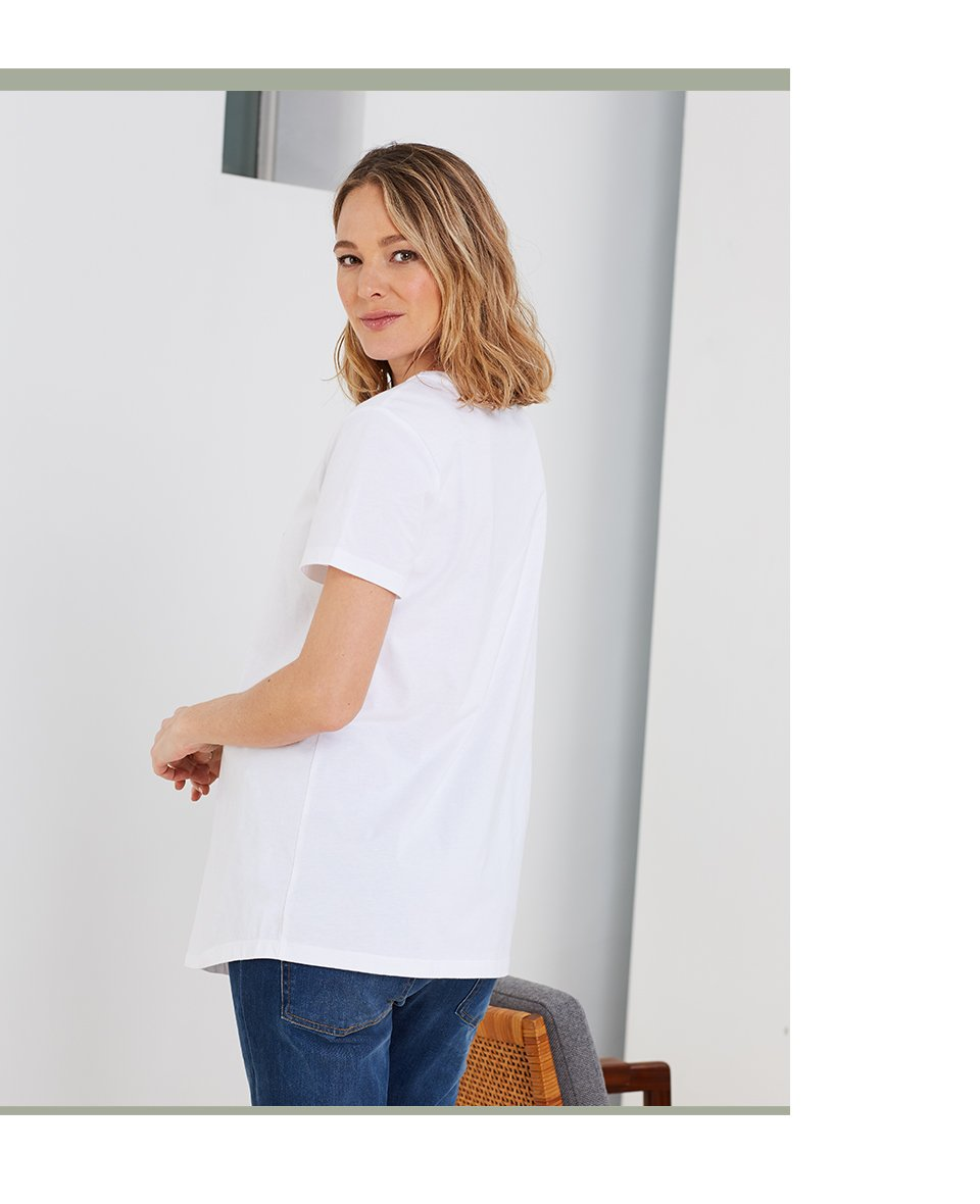 Shop Isabella Oliver Thalia Maternity Tee-Pure White, Isabella Oliver Maternity Boyfriend Jean-Washed Indigo and more