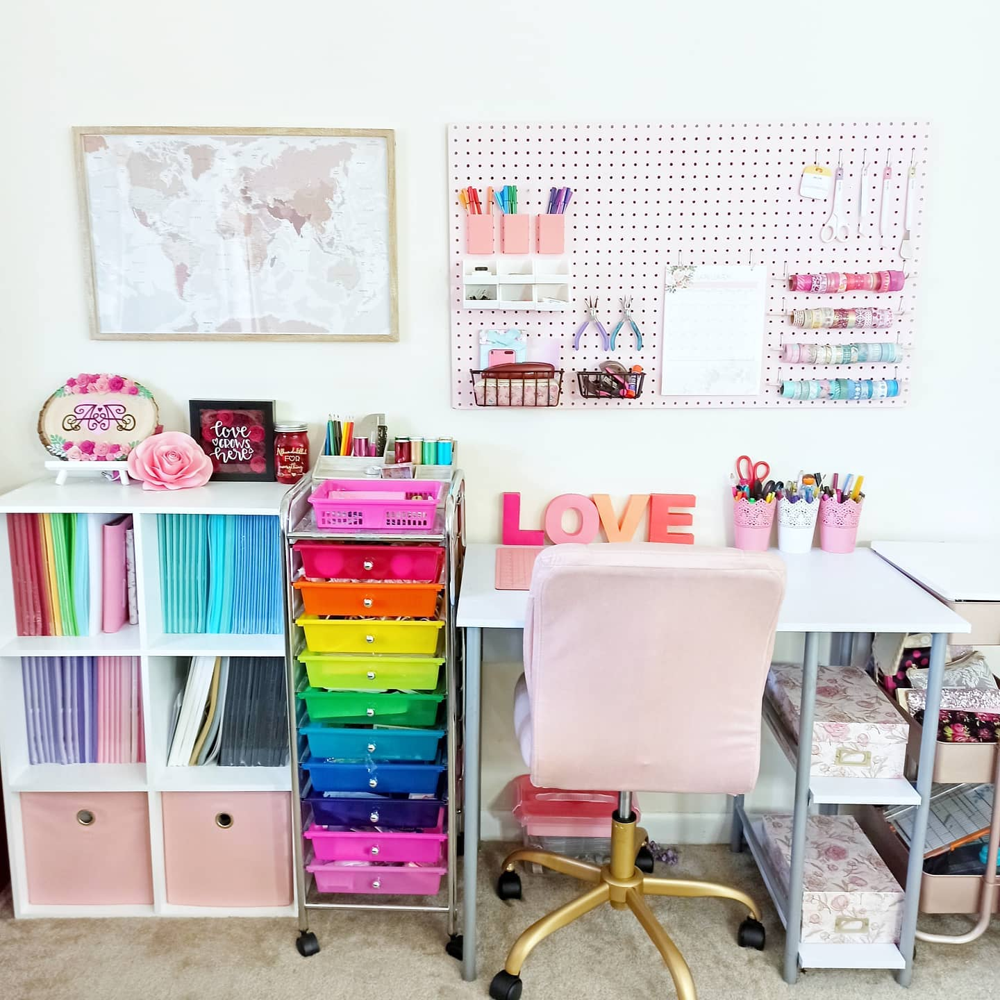 Lovely colorful office Instagram Post