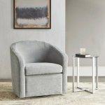 Amber Swivel Chair by Martha Stewart (Light Blue)(Polyester)