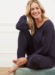 Shop Siesta Modal Top Classic Navy and more