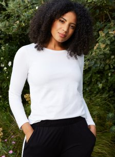 Shop Baukjen Organic Cotton Long Sleeve Top Pure White and more