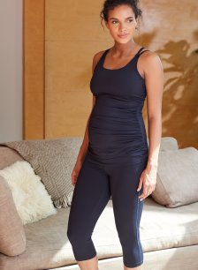 Shop Isabella Oliver The Active Cropped Maternity Legging-Caviar Black and more