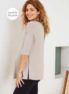 Shop Isabella Oliver The Maternity Yoga Top-Ash Grey and more