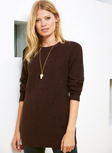 Shop Mila Crew Neck Jumper Dark Chocolate Brown and more