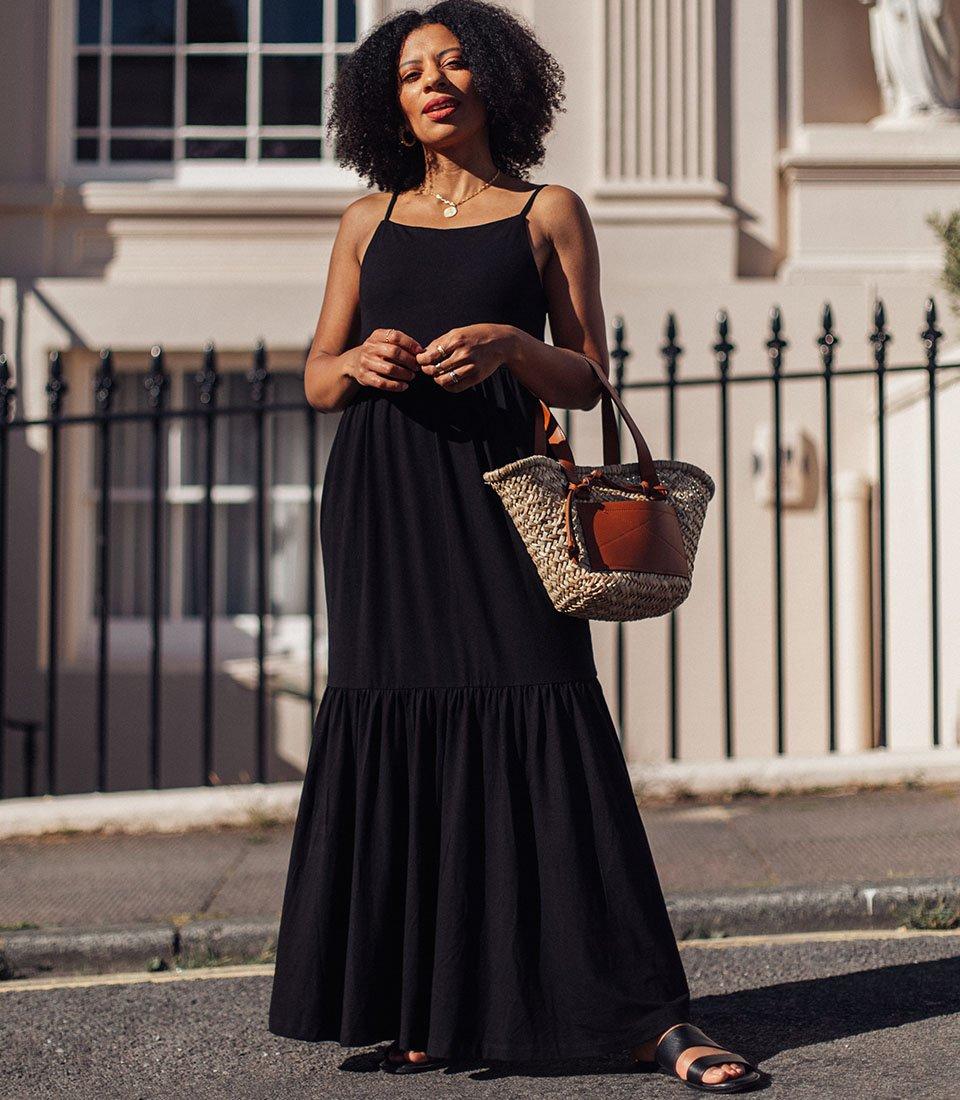 Shop Sylvie Dress Caviar Black and more