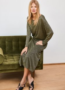 Shop Jude Dress Gold Shimmer and more