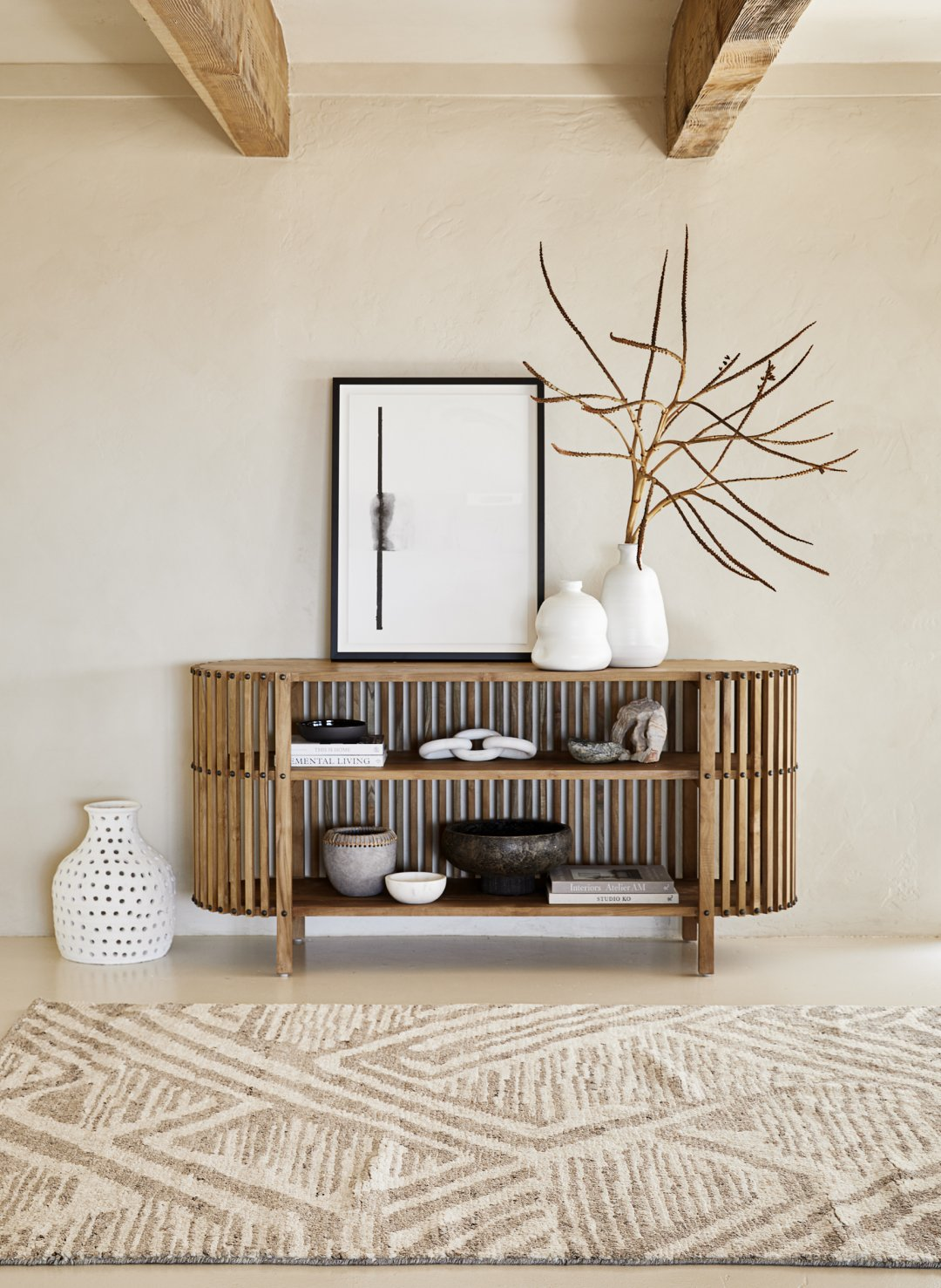 Curalate Reveal: Interactive image with Becker Rug, Vedima Console Table,...