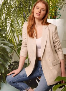 Shop Lennox Linen Blend Jacket to Rent Natural and more