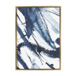 Kate and Laurel Sylvie Indigo Watercolor Framed Canvas by Amy Peterson (23x33)