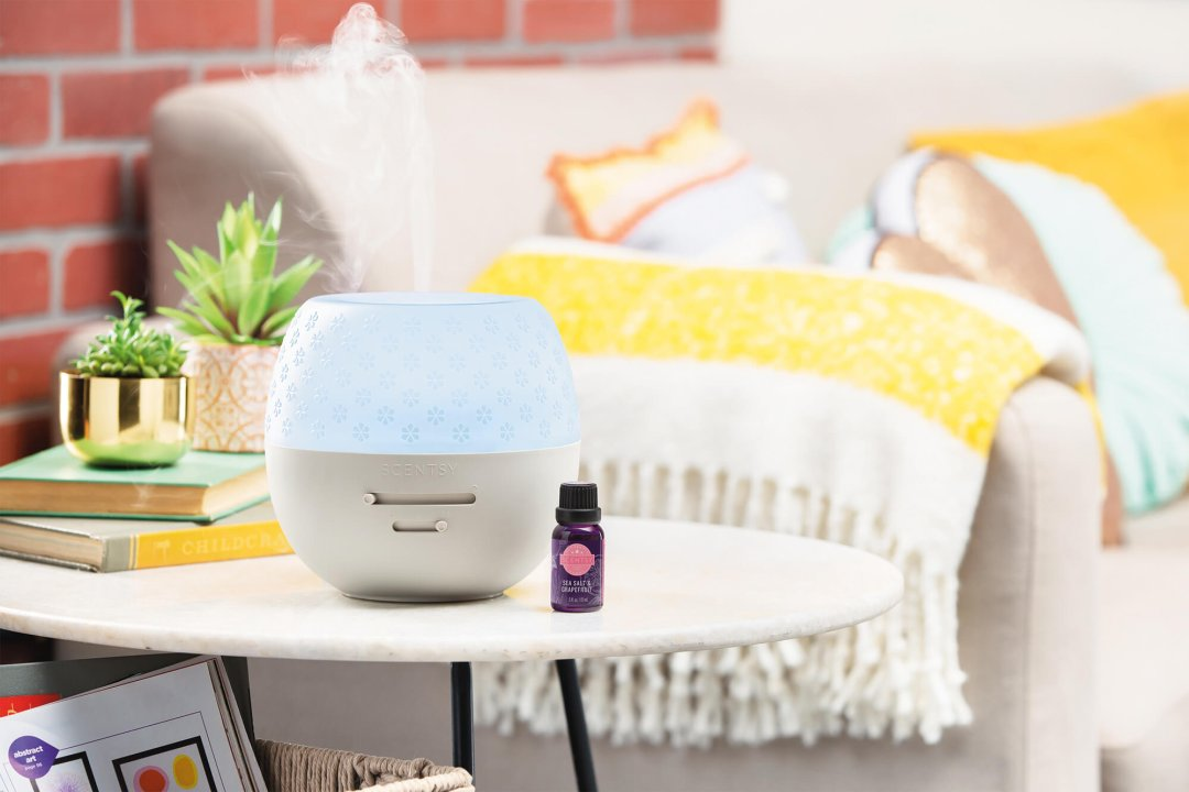Curated image with Fleur – Gray Deluxe Diffuser, Sea Salt & Grapefruit Natural Oil Blend